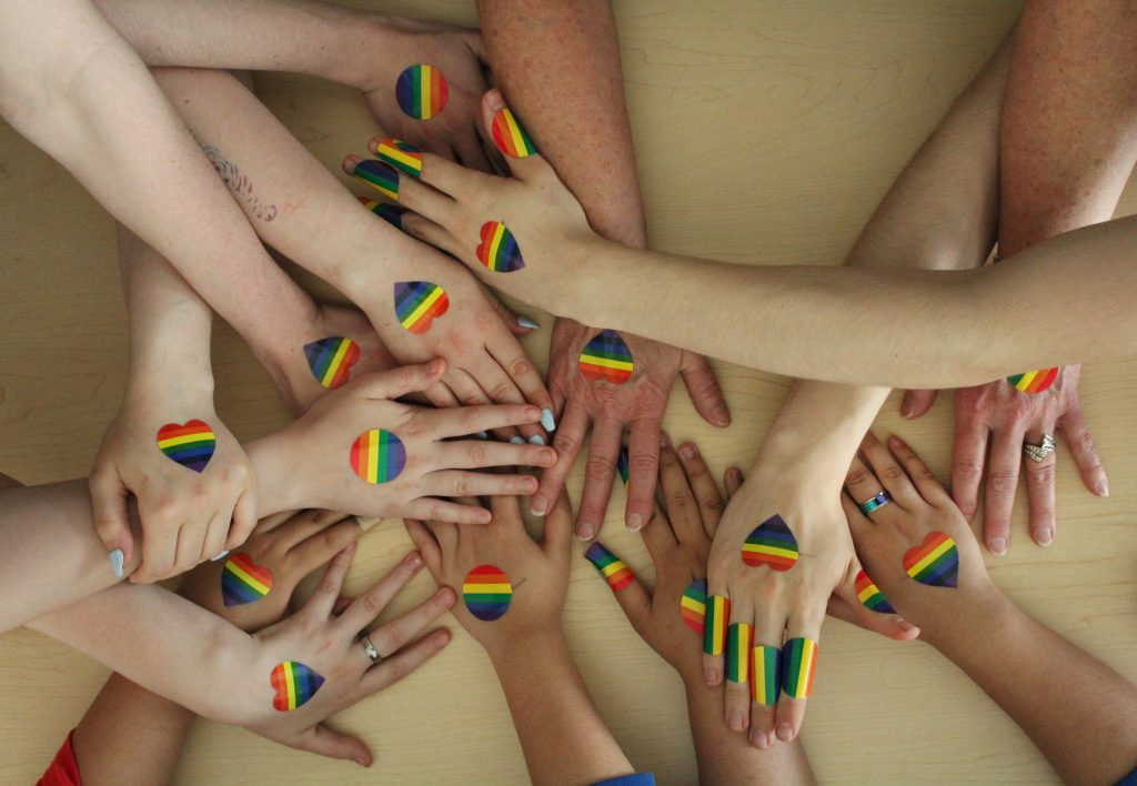 True Colours Hands with Hearts